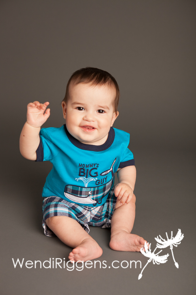 Crazy Cute Baby Aaron is 6 Months Old! Wendi Riggens Photography ...